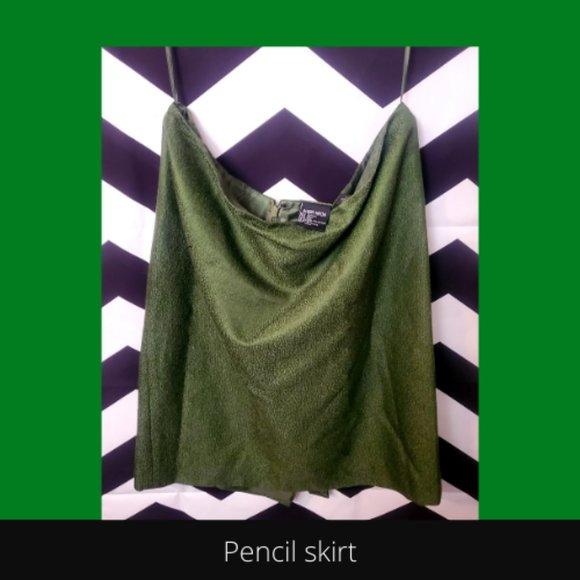 Wool/silk blend suit skirt*